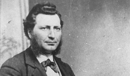 Louis Riel in 1876 | photo: Hall and Lowe photographers